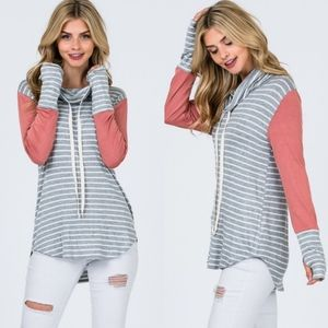 MARILOU Striped Long sleeve Top